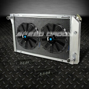 3 Row Core Aluminum Racing Radiator 2x 12 Fan 77 82 Chevy Corvette V8 5 7l 5 0l