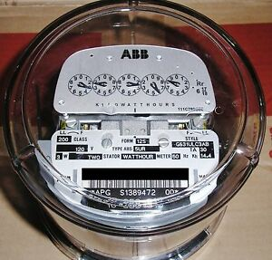 Abb Watthour Meter kwh Abs 5ur Network Form 12s 200a 120v 5 Lugs 3 Wire