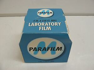 New Parafilm Pm 999 Laboratory Film 4 X 250 Roll Wrapping Interlined W Paper