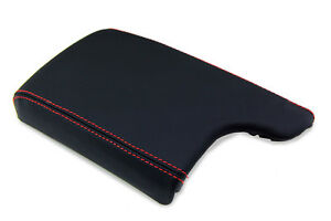 Center Console Armrest Real Leather For Pontiac Grand Prix 04 08 Red Stitch
