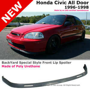 For Civic 96 98 Ek Jdm Type R Bys Style Poly Urethane Front Bumper Lip 2 3 4d