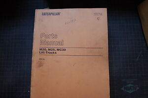 Caterpillar M20 M25 Mc30 Forklift Parts Manual Book Catalog Spare List Towmotor