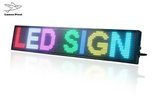8 X 40 Led Sign Rgb 7 Color Programmable Scrolling Indoor Message Display Open