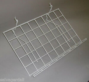 Slatwall Gridwall Grid Pegboard Slant Shelf White 15 D X 24 L Lot Of 5 New