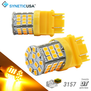 Syneticusa 3157 Led Amber Yellow Turn Signal Parking Drl High Power Light Bulbs