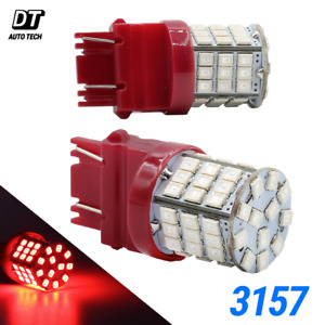 2x 3157 3156 40w Red Led Rear Brake Stop High Power Tail Lamp Light Bulbs Pair