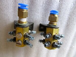 Pneumatic Air Distribution Manifolds Hub Lot Of 2 Smc Brass Metal Construction