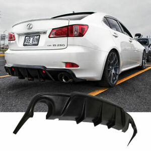 For 06 11 Lexus Is250 Is350 4 Dr Add On Black Rear Bumper Lip Diffuser Body Kit