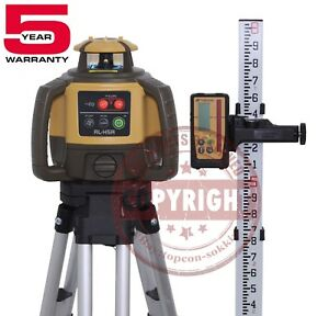 Topcon Rl h5a Rechargeable Self leveling Rotary Slope Laser Level rb Grade 10th