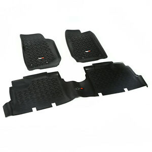 Floor Liner Mat Kit 4 Door Jeep Wrangler Jku 2007 2018 Jk Black 12987 04