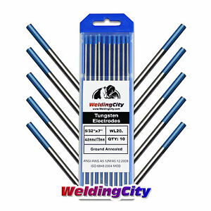 10 pk Tig Welding Tungsten Electrode 2 Lanthanated Blue 5 32 x7 Us Seller Fast