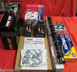 Ford 332 Fe Master Engine Kit Pistons Rings Hyd Cam Lifters Timing Gasket 58 59