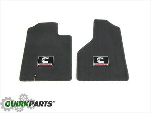 06 10 Dodge Ram Front Floor Mats With Cummins Turbo Diesel Logo Set Of 2 Mopar