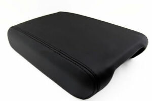 Center Console Armrest Real Leather Cover For Chevrolet Traverse 09 16 Black
