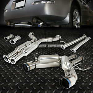 For 350z Z33 G35 Dual 4 5 Tip Stainless Hi Power Racing Catback Exhaust System