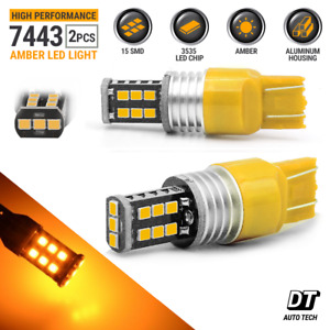 50w 7443 7440 Led Amber Yellow Turn Signal Parking Drl High Power Light Bulbs