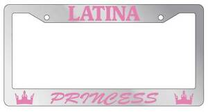 Chrome Metal License Plate Frame Latina Princess Auto Accessory