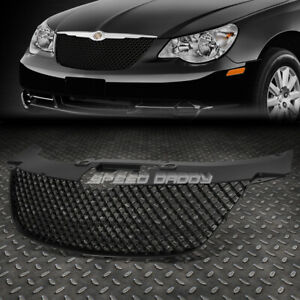 For 07 10 Chrysler Sebring Black Abs Front Bumper Frame Honeycomb Grille Cover