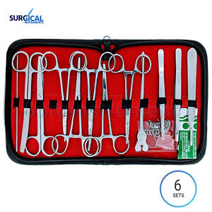 6 Sets 24 Us Military Field Style Medic Instrument Kit Medical Surgical Nurse