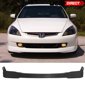 For 03 05 Honda Accord 4dr Hfp Style Front Bumper Lip Spoiler Bodykit Urethane