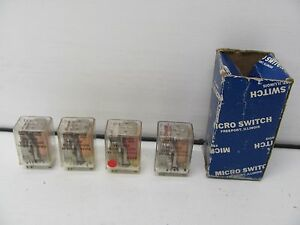 Lot Of 4 Micro Switch Fe21 019 Relays 6vdc 52ohms 5a 29vdc 115vac Nib