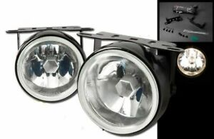 Clear 3 5 Universal Round H3 Driving Fog Lights Lamps Kit W Brackets
