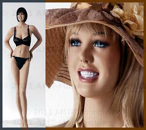37 25 37 Smiling Female Busty Mannequins Manequin Hand Made Manikin cr 2