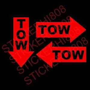 Set Of 3 Tow Arrows Vinyl Decal Sticker Jdm Lowered Fatlace Drift Stance Illest