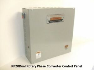 Dual 20 Hp Phase Converter Rotary Control Panel 40hp Made In Usa Rp20dual