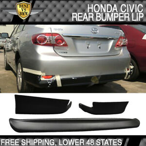 Fits 11 13 Toyota Corolla E140 Sedan Sport Conversion Rear Bumper Lip Spoiler Pp
