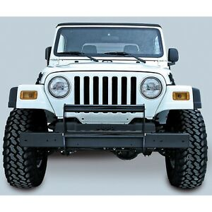 Gloss Black Front Bumper Guard Jeep Wrangler Tj 1997 2006 11511 02 Rugged Ridge