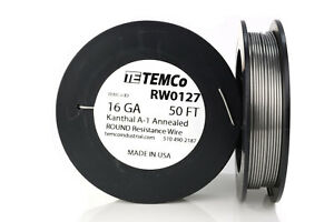 Temco Kanthal A1 Wire 16 Gauge 50 Ft Resistance Awg A 1 Ga