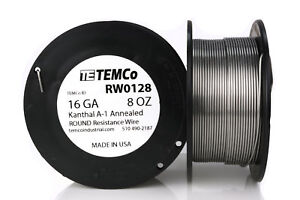 Temco Kanthal A1 Wire 16 Gauge 8 Oz 79 Ft Resistance Awg A 1 Ga