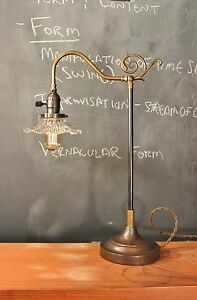 Parisian Parlor Lamp Vintage Antique Industrial Desk Task Light