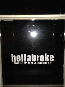 Hellabroke Ballin On A Budget Window Decal For Chevy Dodge Jdm Funny Sticker