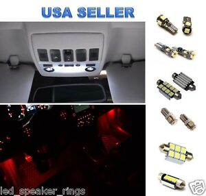 14x Led Light Interior Package For Bmw E90 325i 330i 328i 335i M3 Red Footwell