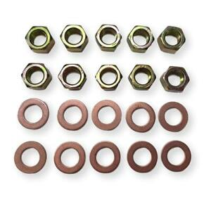 55 64 Chevy Rear Axle Pumpkin Differential Copper Washers Nuts New