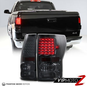 For 07 13 Toyota Tundra V8 L r Smoke Tinted Led Tail Light Smd Bake Signal Lamps