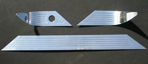 55 56 Chevy Chevy Polished Aluminum Dash Trim With Lines No Radio