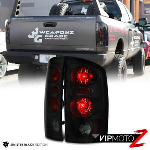 Sinister Black 2002 2006 Dodge Ram 1500 2500 3500 Smoke Tail Lights Brake Lamp