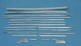 55 56 57 Chevy Nomad Stainless Cargo Trim Kit New