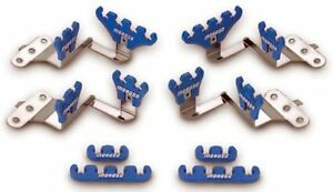 Moroso 72140 Small Block Chevy Wire Loom Kit For Centerbolt Heads Blue 7 9mm