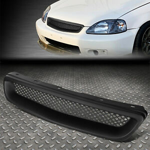 For 96 98 Honda Civic Ej Ek Black Jdm Type R Style Abs Front Bumper Grille Cover