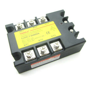 20a 3 Phase Ssr Solid State Relay Dc Control Ac In Dc3 32v Out Ac24 480v D4820a