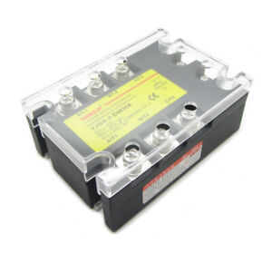 30a 3 Phase Ssr Solid State Relay Dc Control Ac In Dc3 32v Out Ac24 480v D4830a