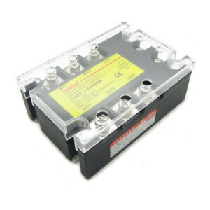 60a 3 Phase Ssr Solid State Relay Dc Control Ac In Dc3 32v Out Ac24 480v D4860a