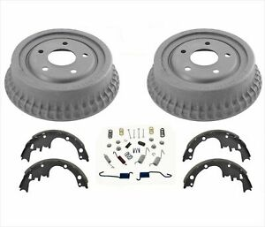 New Rear Brake Drums New Shoes Fits For 75 81 Camaro Firebird Trans Am
