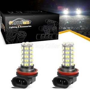 Pack2 6000k White H8 H9 H11 64212 68 3528 Smd Led Aluminum Bulb Fog Light Lamp