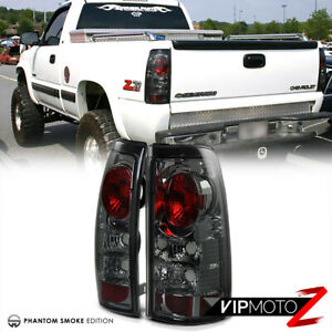 For 99 02 Chevy Silverado Gmc Sierra 1500 2500 3500 Hd Smoke Tail Light Lamp L R