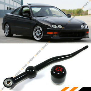For 91 00 Integra Jdm Blk Dual Bend Short Throw Shifter 5 Speed T R Shift Knob